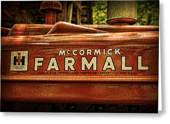 Farmall Tractor Greeting Card by Kenny Francis