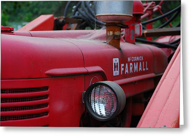 Farmall Tractor Greeting Card by Ron Roberts