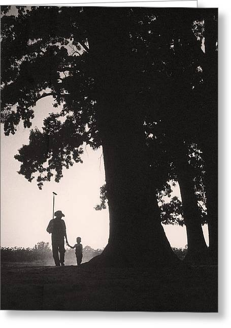 Farmer & Son Greeting Card by Bruce Roberts