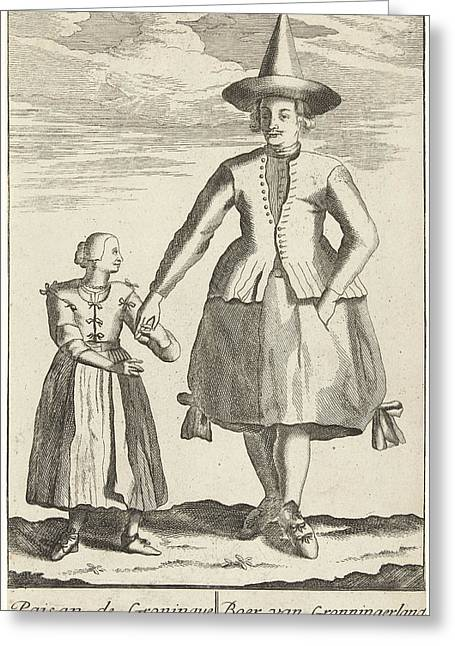 Farmer From Groningen, Pieter Van Den Berge Greeting Card by Pieter Van Den Berge And Anonymous And Pieter Schenk (i)
