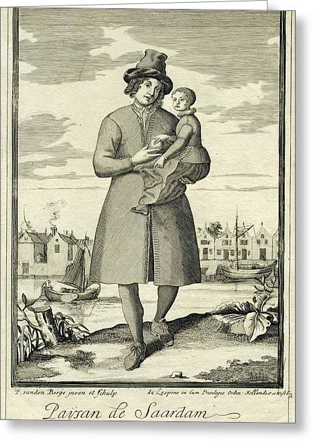 Farmer Zaandam, The Netherlands, Pieter Van Den Berge Greeting Card by Pieter Van Den Berge