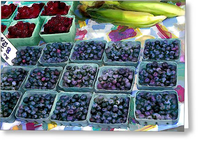 Farmers Berries Greeting Card by Elaine Plesser