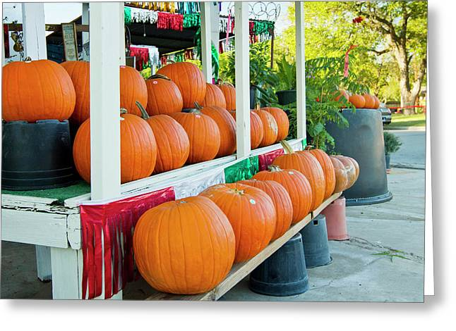 Farmer's Market, Autumn In Luling, Texas Greeting Card