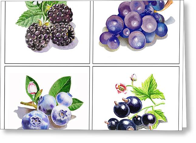 Farmers Market Gifts Black And Blue Vitamins Greeting Card