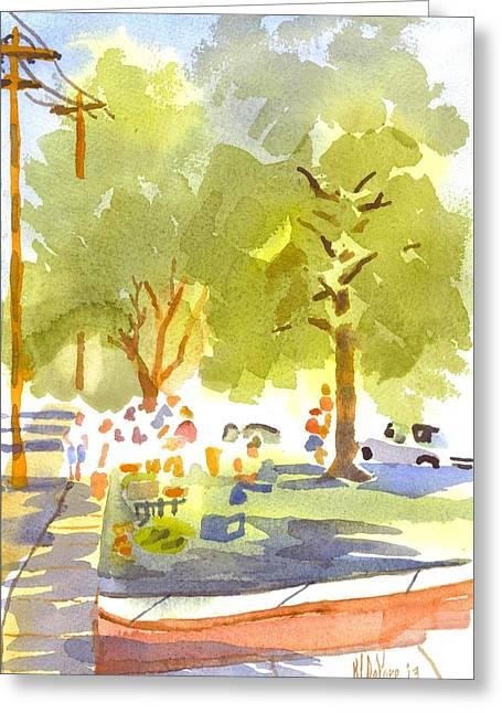 Farmers Market IIi Greeting Card by Kip DeVore