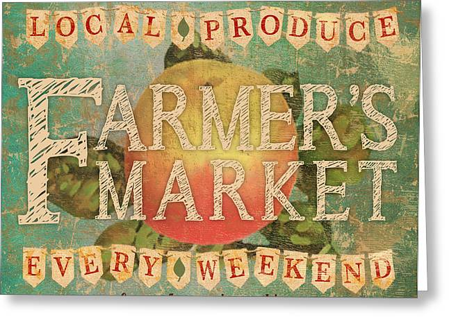 Farmer's Market Greeting Card by Marilu Windvand