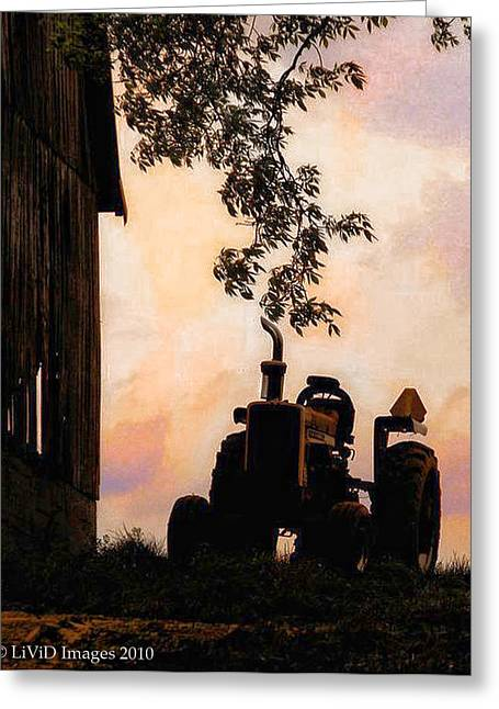 Farmers Sunset Greeting Card