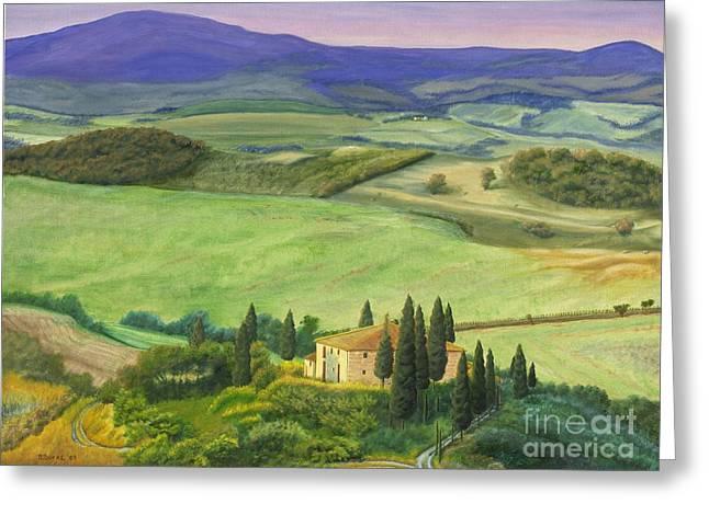 Farmhouse In Tuscany Greeting Card
