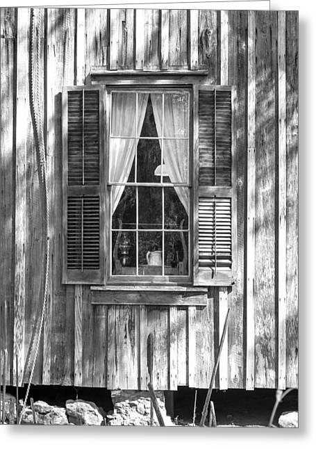 Farmhouse Window Greeting Card by Lynn Palmer