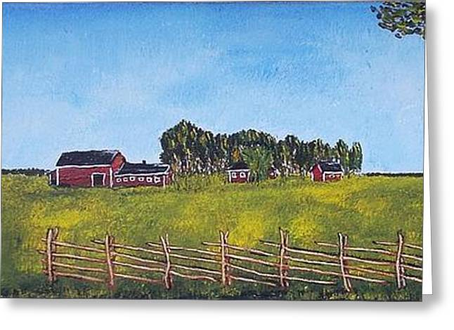 Greeting Card featuring the painting Farmhouse by Zeke Nord