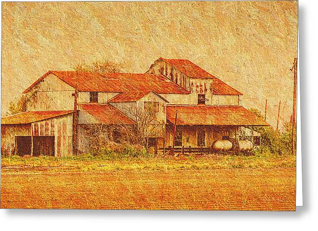 Farm - Barn - Farming The Delta Greeting Card by Barry Jones
