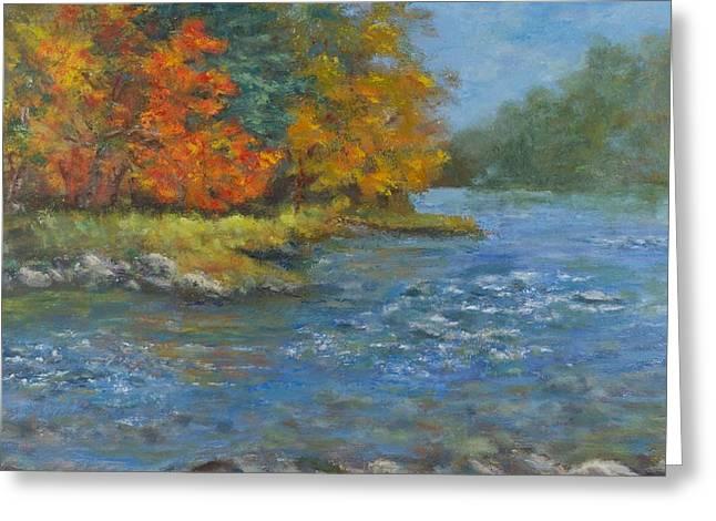 Farmington River Fall Greeting Card