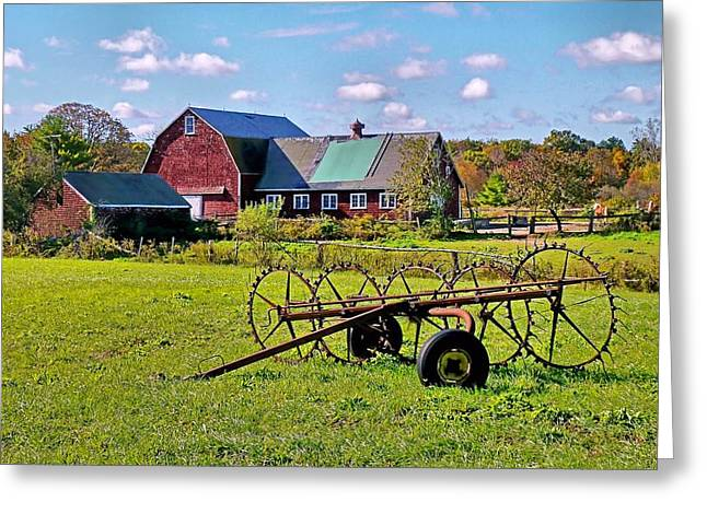 Greeting Card featuring the photograph Farmland by Janice Drew