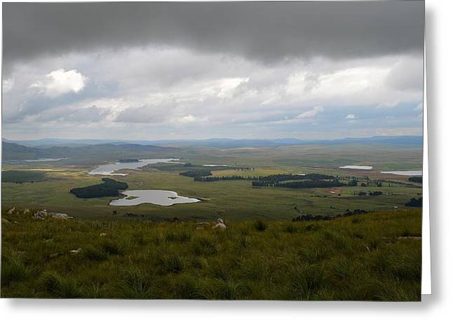 Farms - Drakensberg Range - South Africa Greeting Card