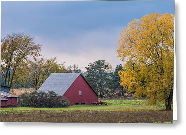 Farmstead With Fall Colors Greeting Card