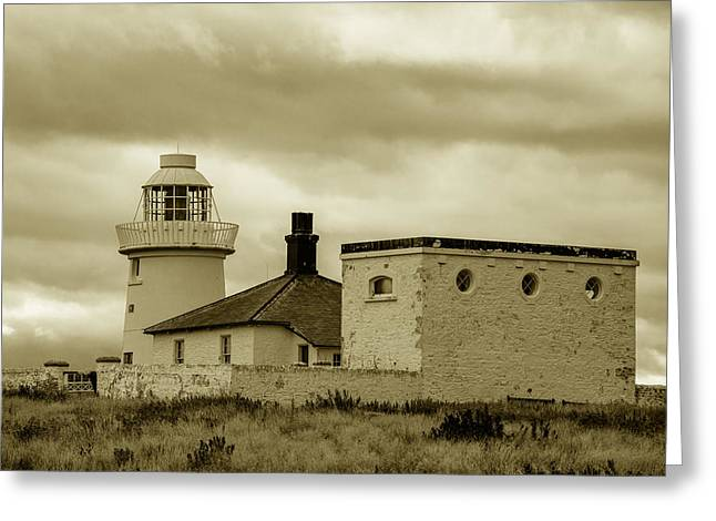 Greeting Card featuring the photograph Farne Lighthouse by Dennis Dame