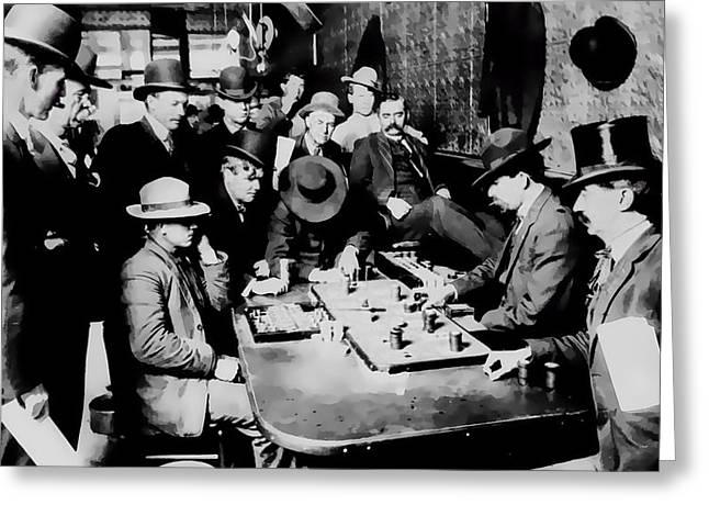 Faro Game Orient Saloon C. 1900 - Arizona Greeting Card by Daniel Hagerman
