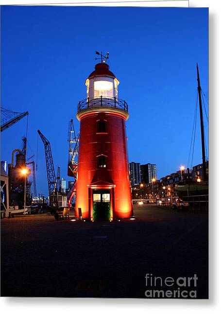 Faro Museo De Rotterdam Holland Greeting Card