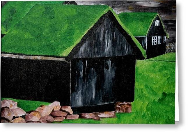 Faroe Houses Greeting Card