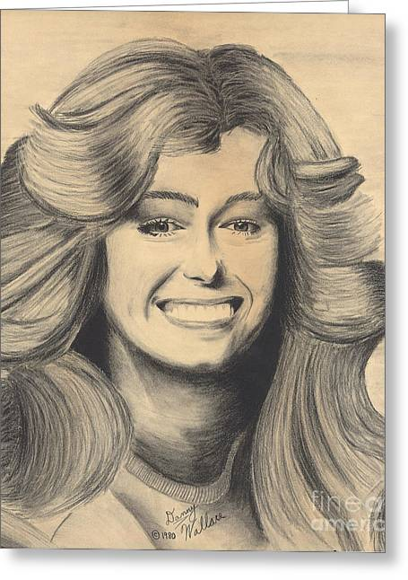 Farrah Fawcett Greeting Card by D Wallace