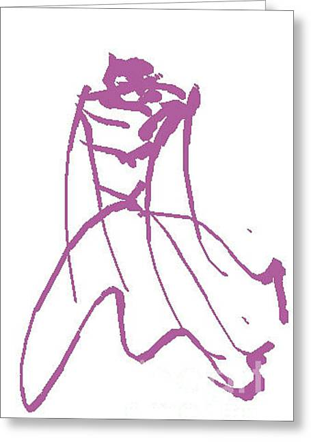 Fashion 7 Greeting Card by Trilby Cole