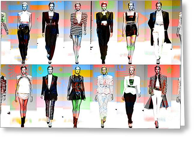 Fashion And Color Greeting Card by Marvin Blaine