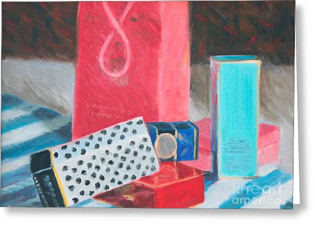 Fashion Boxes Greeting Card by Candace Lovely