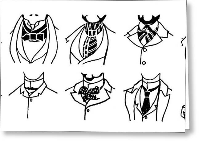 Fashion Cravats And Ties Greeting Card