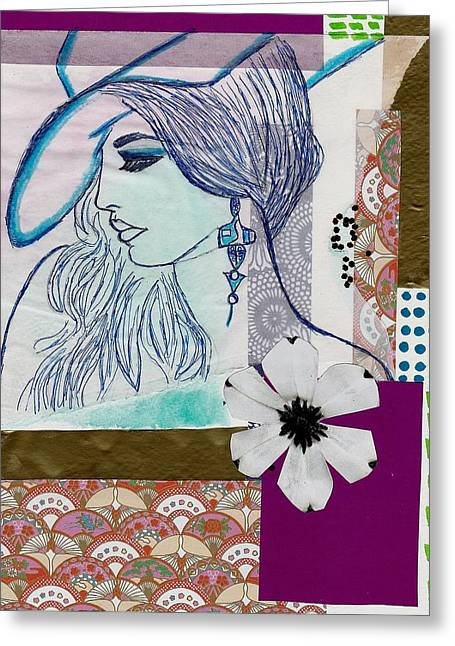 Fashion Girl Collage Greeting Card