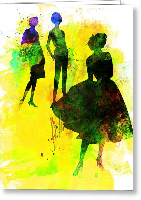 Fashion Models 2 Greeting Card by Naxart Studio