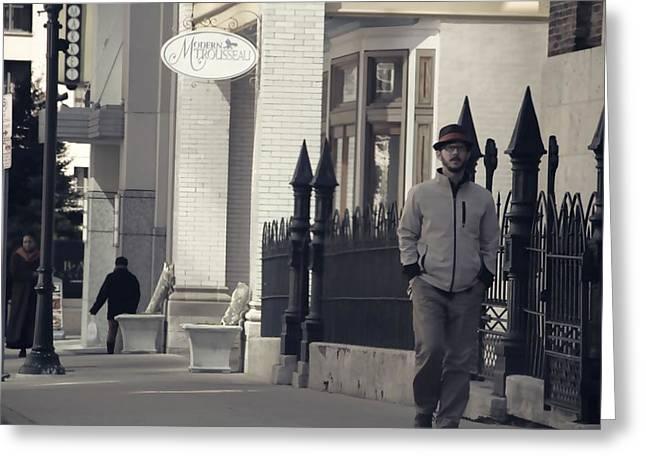 Fashion On The Street Greeting Card