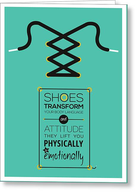 Christian Louboutin Footwear Designer Typography Quotes Poster Greeting Card by Lab No 4 - The Quotography Department