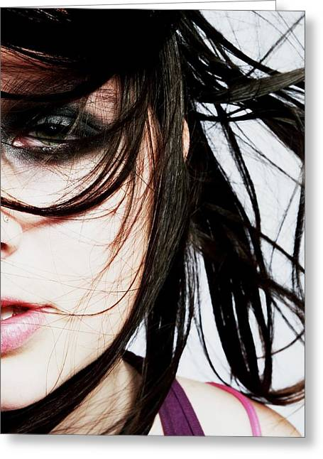 Fashion Shot Greeting Card by Ashley Armstrong