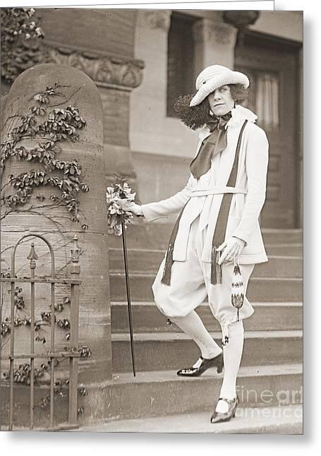 Fashion Statement 1922 Greeting Card by Padre Art