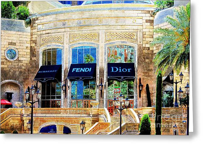 Fashion Vegas Style Greeting Card by Barbara Chichester