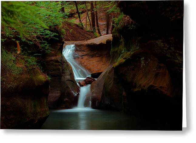 Greeting Card featuring the photograph Fast Flowing by Haren Images- Kriss Haren