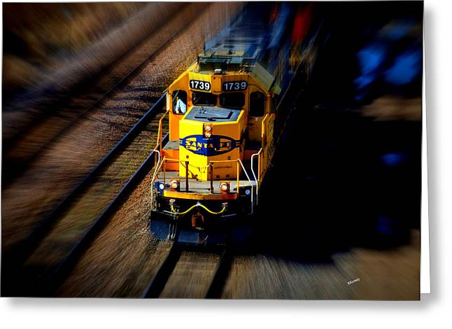 Fast Moving Train Greeting Card