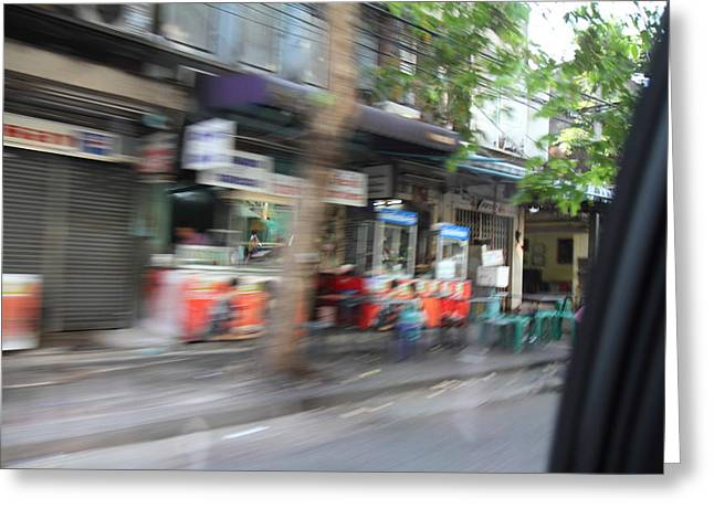 Fast Paced City Life - Bangkok Thailand - 01132 Greeting Card by DC Photographer