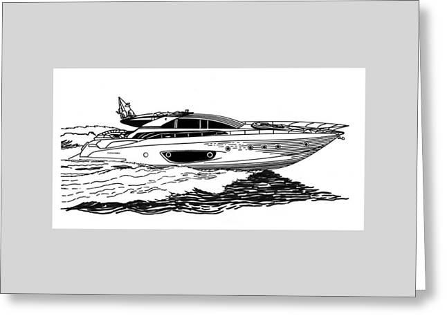 Fast Riva Motoryacht Greeting Card by Jack Pumphrey