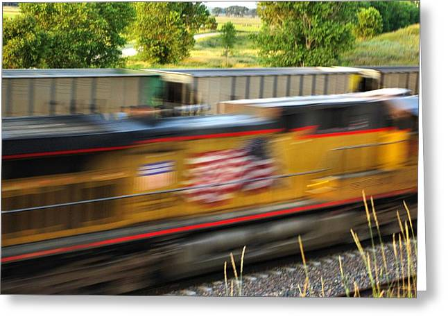 Greeting Card featuring the photograph Fast Train by Bill Kesler