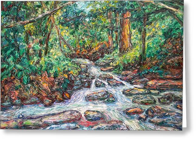 Fast Water Wildwood Park Greeting Card by Kendall Kessler