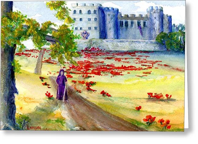 Fastasy Castle Landscape  Greeting Card