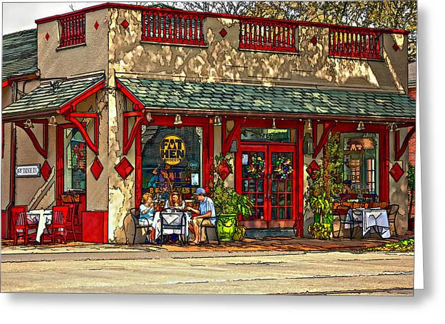 Fat Hen Grocery Painted Greeting Card by Steve Harrington
