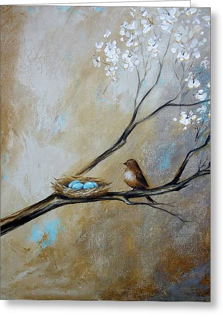 Fat Little Bird's Nest Greeting Card