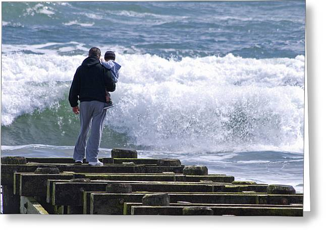 Greeting Card featuring the photograph Father And Son by Greg Graham