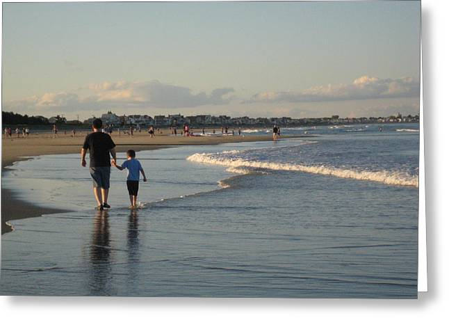 Father And Son Greeting Card by Melissa McCrann