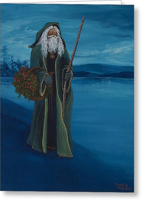 Father Christmas Greeting Card by Darice Machel McGuire