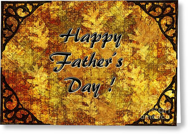 Father's Day Greeting Card I Greeting Card by Debbie Portwood