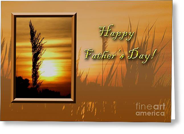 Father's Day Sunset Greeting Card by Jeanette K