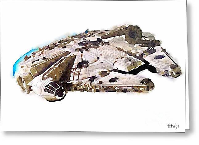 Millenium Falcon Greeting Card